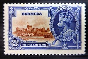 "BERMUDA 1935 Silver Jubilee 2½d ""Bird by Turret"" Variety U/M SALE NS273"