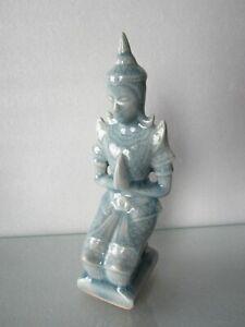 Old Vintage SE Asia Sukhothai Thai Enlightenment Buddha Sansai Celadon Statue