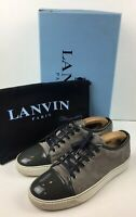 LANVIN 'DBB1' Grey Suede Leather Patent Cap-Toe Trainers 6 / 39 NEW RRP: £325.00
