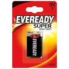 6F22 Super Heavy Duty Battery 9V E Block Zink-State 9 Volt,EveREADY, Energizer