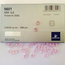 Swarovski Crystal 6mm Cubes #5601- Rosaline - 288 PC Factory Pack