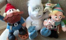 Three Cvs Plush Misfit Toys, Bumble Abominable Snowman, Yukon & Hermey Elf *Nwt*