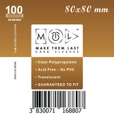 MTL Card Sleeves S80: Size 80x80 100 PCS 7th Continent, Jungle Speed, Vie,...