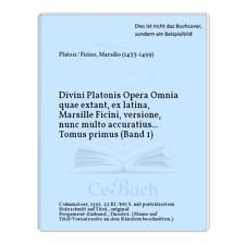 Platon / Ficino, Marsilio (1433-1499): Divini Platonis Opera Omnia quae ...