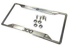 Chrysler 300 Zinc Steel Chrome License Plate Frame Screws and Caps
