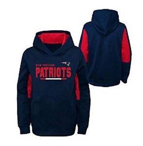 New England Patriots Youth Boys Long Season Pullover Hoody Sweatshirt