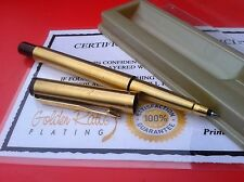 24Ct Gold Plated Parker Vector RollerBall Writing Pen Gift Boxed - Blue Ink