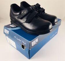 New - Drew Paradise II Women's Black Calf Strap Closure Shoe - Size 8 Wide