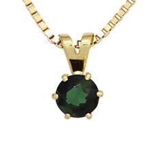 NEU Anhänger grüner Edelstein 585er echt Gold Gelbgold 14 Karat Kettenanhänger