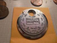 Vintage Champion Spark Plug Gap Opener CT 481 Taper Gap Gauge#GRECHAMP22