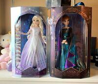 Disney Frozen 2 Elsa & Anna Limited Edition Authentic Dolls w/ Rare Olaf Key NIB
