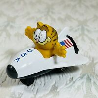 Vintage Garfield Cat Die Cast Space Shuttle ERTL 1978 - 1981 Figure USA Flag