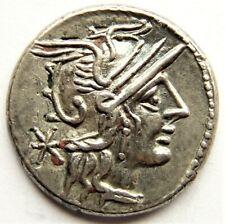 ROMAN REPUBLICAN AR DENARIUS 118-117 BC.