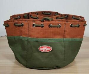Bucket Boss Green and Brown Tool Parts Bag with Draw String