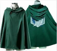 Green Hooded Anime Cloak Cloth Fancy Halloween Cosplay Medieval Wedding Cape ONE