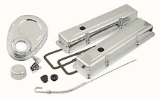 Mr. Gasket Engine Dress Up Kit 9834; Chrome Steel for Chevy 262-400 SBC