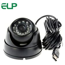 CMOS OV7725 Night Vision IR Cut Security Outdoor Dome USB Camera Webcam 8mm Lens