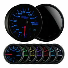 "GlowShift Tinted 7 Color 3 3/4"" 95mm In-Dash 220 km/h KM Speedometer Gauge Kit"