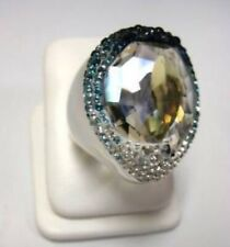 Genuine Swarovski Hyacinth Blue Ring Size 52