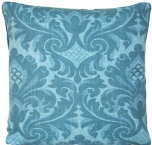 Blue Cushion Cover Printed Traditional Cotton Fabric Montagu Marvic Scatter