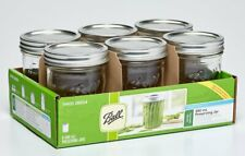 Ball Mason Jars 1440006604 Preserving Jars Recipe 490ml 6 Pieces - Clear