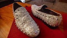 Men's Sparkle Dress Loafers Slip On Classic Tuxedo Dress Spike Shoe