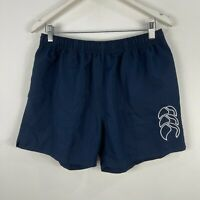 Canterbury Mens Shorts XL Extra Large Slim Fit Blue Elastic Waist Drawstring
