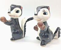 Vintage Boxing Skunk Figurines Salt and Pepper Shaker Style Relco Japan