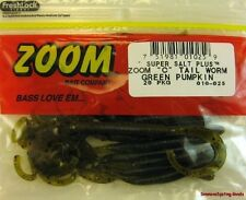 ZOOM CURLY TAIL WORMS 010-025 GREEN PUMPKIN
