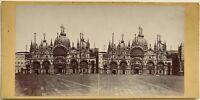 Chiamato Façade Venezia Italia Fotografia Stereo Vintage Albumina c1860