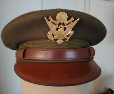 Superbe casquette d'officier US army ORIGINALE WW2 T. 7 1/8 (58)