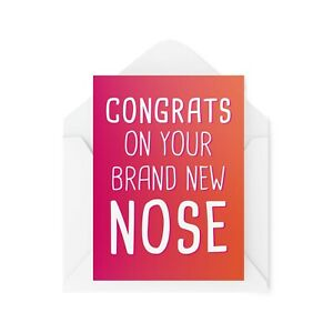 Funny Nose Job Cards   Cosmetic Surgery Card   For Her New Face Filler   CBH326