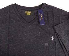 Polo Ralph Lauren Short Sleeve V-neck Tee Shirt Black Mens Size 2xb