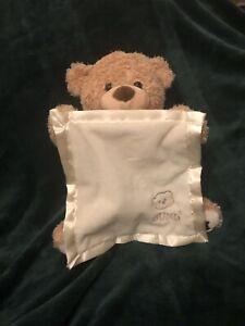 BABY GUND TEDDY BEAR PEEK A BOO PLUSH TOY MOVES AND TALKS light brown