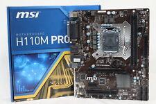 MSI H110M PRO-VHL Micro ATX Motherboard [LGA 1151]  [DDR4]