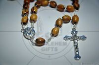 WOOD rosary CATHOLIC OLIVE WOOD prayer Holy SOIL HOLY LAND