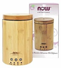 NOW Foods Solutions Real Bamboo Ultrasonic Essential Oil Diffuser Aromatherapy