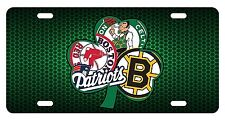 BOSTON Irish Fan Sport Teams Front License Plate Combined Logo Mashup Decorative