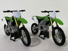 New Ray Toys Kawasaki KXF Motocross Bike model - 1/12 Scale 2 Model Pack