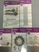 Crafter's Companion Flower Wreath and Stems Stamp and Die Set Bundle NEW