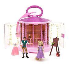 Disney Store Rapunzel Tangled Flynn Gazebo Muñeca Castillo Playset Princesa BNWT