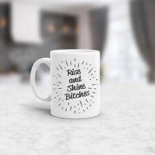 Rise and Shine Bitches Funny Coffee Mug