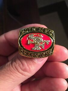 2012 KAEPERNICK SAN FRANCISCO NFC CHAMPIONSHIP GOLD RING-SIZE10 (NOT IMITATION)