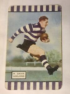 Swap Card AFL, Geelong - 1954 - Vintage - Coles Football, Series 1 - R. Davis.