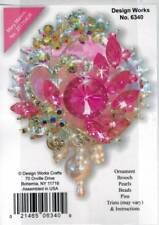 Pink White Elegance Sequin Bead Christmas Ornament KIT New  Holiday Collectible