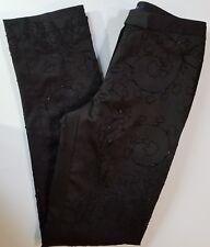 MAG Magaschoni Women's Beaded Black Slacks - Size 6