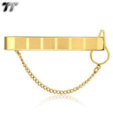 TT 14K GP Gold 316L Stainless Steel Tie Clip Clasp (TC01J) NEW Arrival