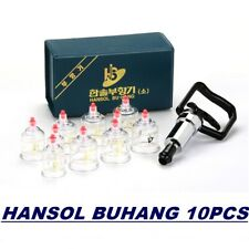 Hansol 10 Cups Professional Cupping Vacuum Therapy Massage Pump Acupuncture Set