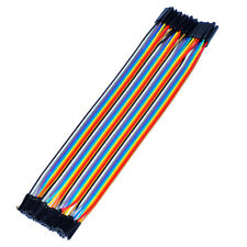 DuPont 40pcs 30cm Female to Female Jumper Wire Color Pi Cable Arduino Breadboard