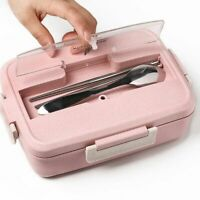 Microwave Lunch Box Wheat Straw With Dinnerware Portable Bento Food Container